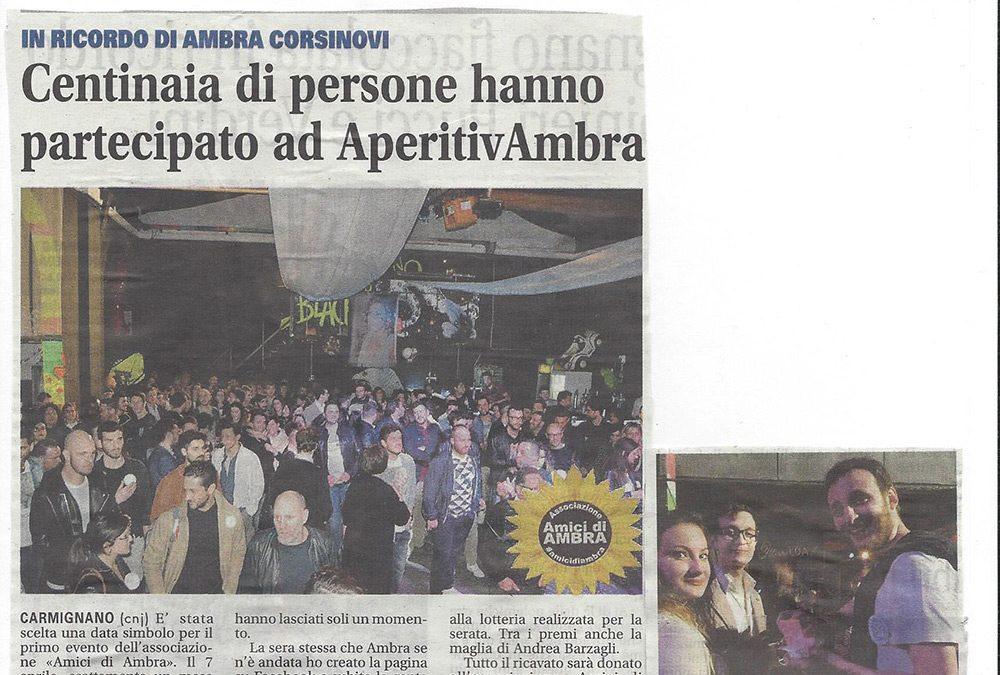 Centinaia di persone hanno partecipato ad AperitivAmbra