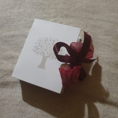 Scatolina a Forma Libro con Inciso Albero della Vita