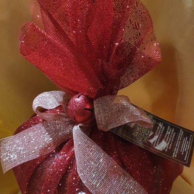 Panettone Artigianale con Gocce di Cioccolato da gr. 0,750 in confezione Natalizia e Personalizzazione in Etichetta x Ordini Superiori a 12 pezzi